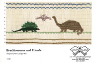 Brachiosaurus and Friends Smocking Plate by Marie Landgraf Mote, Pre-Loved but good condition