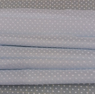 This is a beautiful quality Swiss voile in Blue with White cut spot, Ideal for dresses, blouses, sun suits, nightwear and more, 140 cm wide  Wash at 30 degrees 1.12 metre piece