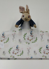 End of roll piece of Jemima Puddleduck fabric, 100% cotton, 83 cm x 121 cm Wash at 30 degrees, This fabric is under license, please do not make up to sell on