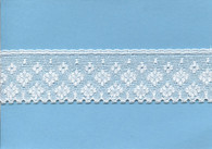 Wide edging lace in white 3.5 cm wide