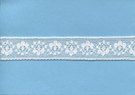 Flower and spot design insertion lace