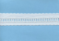 Swiss ladder entre deux - beading - in white- 9 metres maximum length in one piece