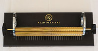 32 Row Read Smocking Pleater, 32 Needles Spaced 1 cm apart plus half spaces across half of the roller width.   This is the only pleater of this size available worldwide. This pleater has the following specifications. Heavy duty stable base-plate with anti-skid rubber feet Extra large side-plate opening allowing for large capacity of rolled-up fabric Simple, pin-type roller holding system allows for quick and easy needle access. Comfortable and user-friendly dual handles for maximum versatility. Heavy-solid brass rollers.  Capable of handling heavy-weight fabrics Comes with a full set of needles and some spare ones. Can now be used with the Pleater Feeder using the adapter lid - Purchase separately - new stock due 8th April 2019