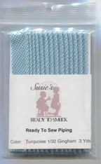 Susie's Ready to Sew Gingham piping in Turquoise