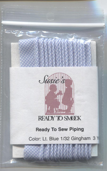 Susie's Ready to Sew Gingham piping in Light Blue