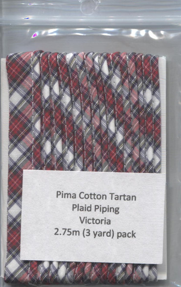 Ready to Sew Tartan piping in Victoria