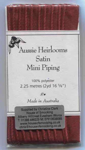 Aussie Heirloom Satin Piping In Cherry Red