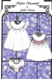 Infant Snowdrift smocking pattern by Judith Marquis