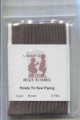 Susie's Ready to Sew Brown plain piping - colour match Anchor 1088