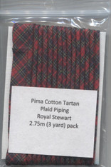 Ready to Sew Tartan Piping in Royal Stewart 2.75 metres (3 yards)