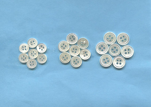 Real Shell buttons available in size 14, 16 or 18