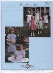 Basic Square Yoke Smocked Dress Pattern by Chery Williams, This is a fab pattern and has all the variations of a square yoke you will need, Choose from lace collars, Peter Pan collars, Smocked Panel or Smocked from the shoulder, Long sleeves or short sleeves This is a multi size pattern 2 years - 6 years (also available in 3-24 month size), There is no smocking design or transfer dots included in this pattern, Please order 'H' dots separately under Haberdashery, All my fabrics are suitable for these dresses, See attached video for help
