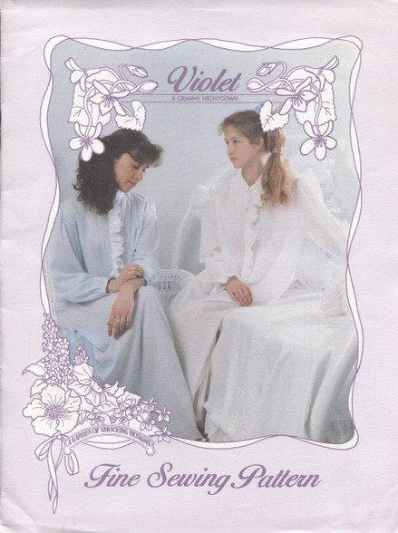 Violet Granny Nightgown Pattern by A Garden of Smocking