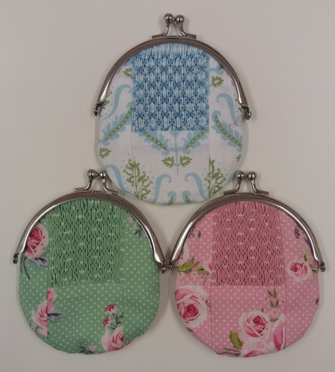 Ready to Smock Patchwork Purse Kit - available in three colours