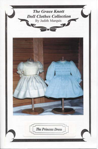 Doll Smocked Princess Dress Pattern by Judith Marquis