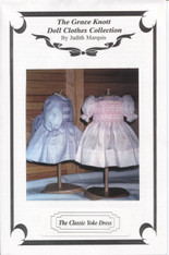 Doll Smocked Classic Yoke Dress Pattern by Judith Marquis