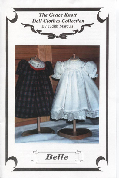 Smocked Belle Dolls dress pattern by Judith Marquis