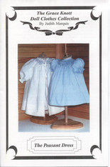 Doll Smocked Peasant Dress Pattern by Judith Marquis