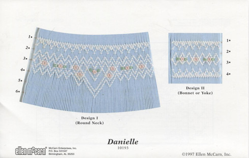 Danielle Smocking Design Plate by Ellen McCarn
