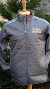 The CCM Quilted Jacket is a unique take on a warm up jacket, providing lightweight warmth from its quilt-through design. This jacket does not have a liner, but as an over-garment, the smooth fleece interior of the sleeves provides plenty of comfortability. The Quilted Jacket is well styled and features CCM's logo embroidered on the right shoulder and rear collar.