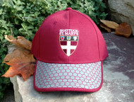 SSM hat designed by our President Nick Stoneman.  Maroon body with honeycombed gray bill.  Embroidered SSM Shield logo. Adjustable Velcro back.