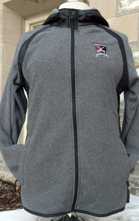 Heather charcoal fleece body and black ripstop accents are both made of super soft and comfy 100% polyester for ultimate comfort and fit on game day or any day. Embroidered soccer logo on front left chest, zipped front pockets, extended sleeve with thumbies. Get pumped up for the big game and stay warm; Great for gift giving for any celebration including holidays and birthdays