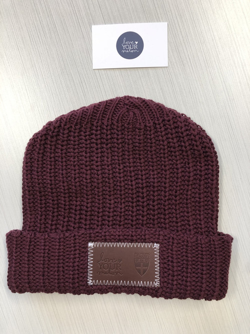 SSM Love Your Melon hats!!  Love Your Melon is an apparel brand dedicated to giving a hat to every child battling cancer as well as supporting the fight against pediatric cancer.  Fifty percent of profit is given to nonprofit partners to fund children's cancer research.  Maroon,  100% cotton, USA made,  SSM logo.  Limited quantities.
