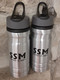 For your next adventure, 24 ounce aluminum water bottle with SSM logo. Carrying hand easily attaches to bags and carabiners.  Unique leak resistant cap with flip-up spout. Highest quality aluminum sports bottle with BPA Free liner.