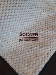 Plush Texture Blanket with Embroidered Soccer Logo