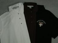 Uniform polo shirts.