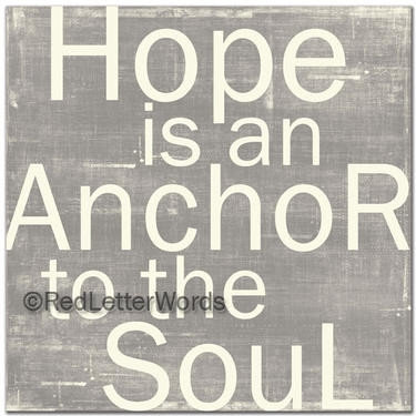 Hebrews 619 Hope Is An Anchor To The Soul