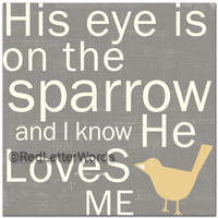 His Eye Is On The Sparrow - Cards