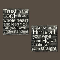 Proverbs 3:5-6 - Set of 2