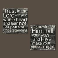 Proverbs 3:5-6 - Set of 2