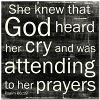 She Knew ... Prayers - 5x5 Cafe Mount