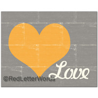 Grey with Yellow Heart