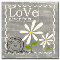 Daisy - Love Never Fails 5x5 Cafe Mount