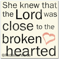She Knew. . . Broken Hearted - 5x5 Cafe Mount