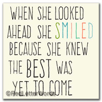 She Smiled...Future - 5x5 Cafe Mount