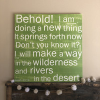 Isaiah 43:19 - 40x40 Chartreuse Gallery Wrap Canvas