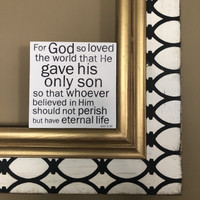 John 3:16 - 5x5 size Cafe Mount