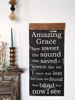 Amazing Grace Scroll - White
