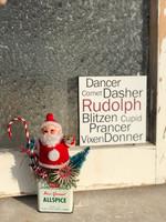 Santa's Reindeer 5x5 Cafe Mount