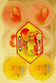 YAME MIX FRUIT PUDDING CUPS 110Gx6