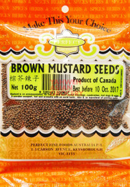 PFF BROWN MUSTARD SEEDS 100G