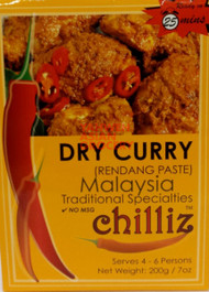 CHILLIZ DRY CURRY (RENDANG) 200G