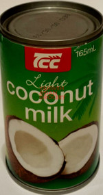 TCC LIGHT COCONUT MILK 165ML