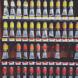 Inside Newtown Art Supplies Store - Paint Tubes