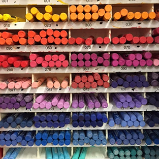 Inside Newtown Art Supplies Store - Pastels