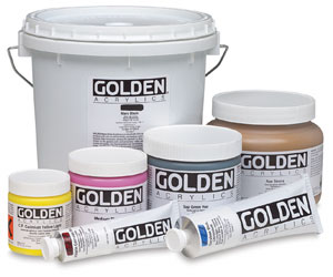 Golden Heavy Body Artist Acrylics in 59ml tube, 236ml, 473 ml and 946ml jars